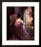 Young Woman Reading by a Window Posters by Delphin Enjolras