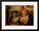 Playing Checkers Prints by Harry Herman Roseland