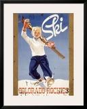 Ski Colorado Rockies Framed Giclee Print