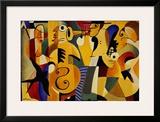 Jazz Panel I Prints by John Hillmer