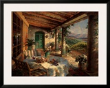 View from the Veranda Print by Leon Roulette