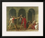 The Oath of the Horatii, 1784 Prints by Jacques-Louis David