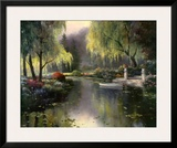 Willow Park Lake Print by T. C. Chiu