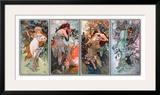 Four Seasons Framed Giclee Print by Alphonse Mucha