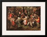 Wedding Dance Prints by Pieter Bruegel the Elder