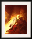 The Prophet Jeremiah Mourning over the Destruction of Jerusalem, 1630 Posters by  Rembrandt van Rijn