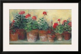 Kathleen's Geraniums Posters by Carol Rowan