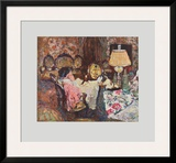 Mrs. Hessel in her Parlour Prints by Édouard Vuillard