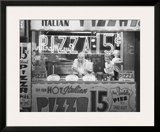 Hot Italian Pizza Print by Nat Norman