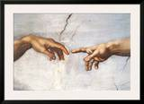 Creation of Adam Detail Hands Posters by  Michelangelo Buonarroti