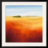 Red Fields II Prints by Hans Paus
