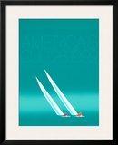 Duel ('92-blue America's Cup) Poster by Keith Reynolds