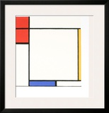 Composition with Red, Yellow, and Blue Posters by Piet Mondrian
