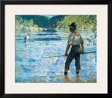 Salmon Fishing, 1927 Print by Frank Weston Benson