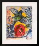 Amants et Oiseaux Posters by Marc Chagall