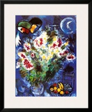Still Life with Flowers Print by Marc Chagall