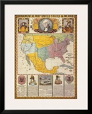 Ornamental Map of the United States and Mexico Posters by Humphrey Phelps