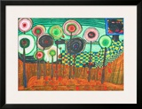 Black Girl, Discovery in the Kingdom of the Toros Prints by Friedensreich Hundertwasser