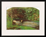 Ophelia Framed Giclee Print by John Everett Millais