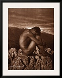 Male Nude on Rocky Outcrop, c.1900 Prints by Wilhelm Von Gloeden