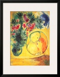 Sun and Mimosa Prints by Marc Chagall