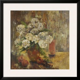 White Hydrangea Prints by Lorrie Lane