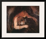 The Vampire Posters by Edvard Munch