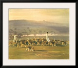 Belvoir Hounds Exercising in the Park Posters by Sir Alfred Munnings