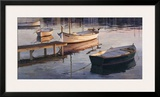 Barques al Port Framed Giclee Print by Poch Romeu