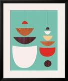 Mobiles Framed Giclee Print by Jenn Ski