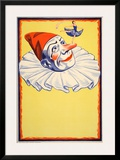 Clown on Yellow Background (c.1930) Prints