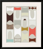 Road Blocks B Framed Giclee Print by Jenn Ski