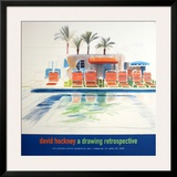 Eight Sunchairs by a Pool Posters by David Hockney