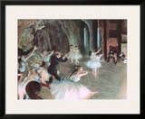 The Rehearsal of the Ballet on Stage, c.1874 Posters by Edgar Degas