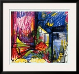 Landscape-Works on Paper Prints by Hans Hofmann