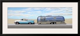 Classic Car with Mobile Home Art by Mark Hamilton