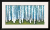 Springtime Birches Framed Giclee Print by Lisa Congdon