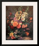 Still Life with Hollyhocks Prints by Albert Williams