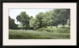 Grazing Framed Giclee Print by Ray Hendershot