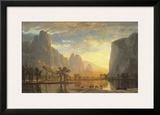 Valley of the Yosemite Posters by Albert Bierstadt