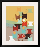 Hour Glasses Framed Giclee Print by Jenn Ski