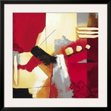 Red Composition II Print by  Krimm