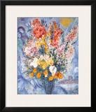 Ramo des Flores Lámina por Marc Chagall