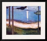 Moon Light, 1895 Art by Edvard Munch