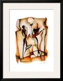 Jazz Duo Prints by Alfred Gockel
