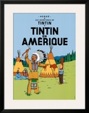 Tintin en Amerique, c.1932 Prints by  Hergé (Georges Rémi)