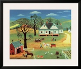 Chores on the Farm Art by Konstantine Rodko