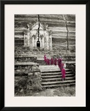 Walking up to Mingun Temple, Burma Poster by Scott Stulberg
