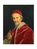 Portrait of Pope Clement Ix Giclee Print by Il Baciccio