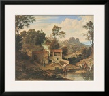 Romantic Landscape near Olevano Prints by Joseph Anton Koch